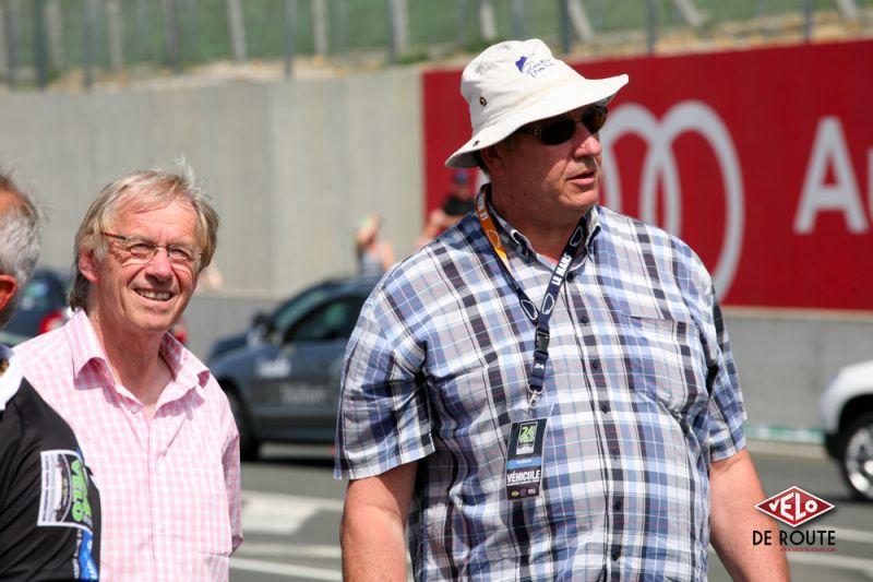 Daniel Mangeas (à gauche) et Claude Gasnal, Monsieur 24 heures Vélo.