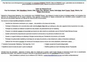 gallery Shimano France recrute