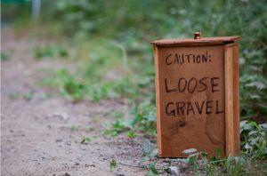"""""""Graviers glissants"""", merci pour l'info."""