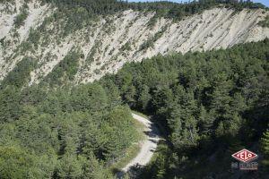 Le genre de piste et de paysage qu'affectionne Nico Joly, le plus loin possible des voitures.
