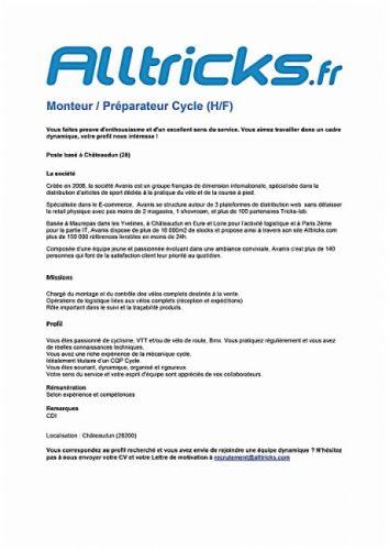 gallery Avanis recrute un mécanicien vélo et un téléconseiller administratif