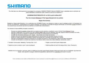 gallery Shimano France recrute un coordinateur produits H/F
