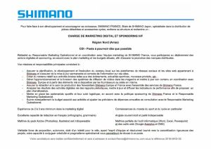 gallery Shimano france recherche un chargé de marketing digital et sponsoring H/F