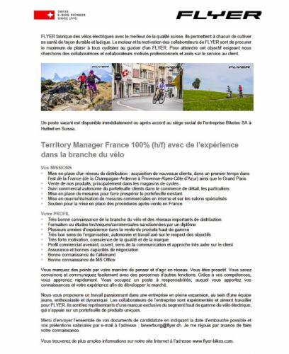 "gallery Flyer cherche son ""Territory manager"" pour la France"