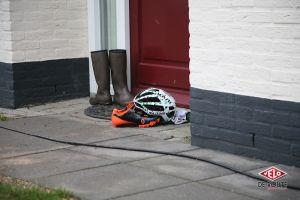 Casque et chaussures de Matthieu Boulo