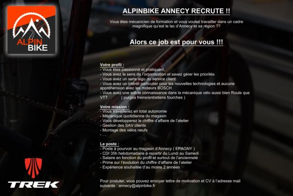 gallery Alpin Bike recrute un mécanicien (H / F)