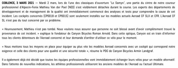 gallery Canyon met son Aeroad au repos forcé !